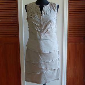 ALFANI KHAKI DRESS SIZE 10